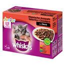 Megapack Whiskas Junior Frischebeutel 48 x 100 g - Klassische Auswahl in Sauce